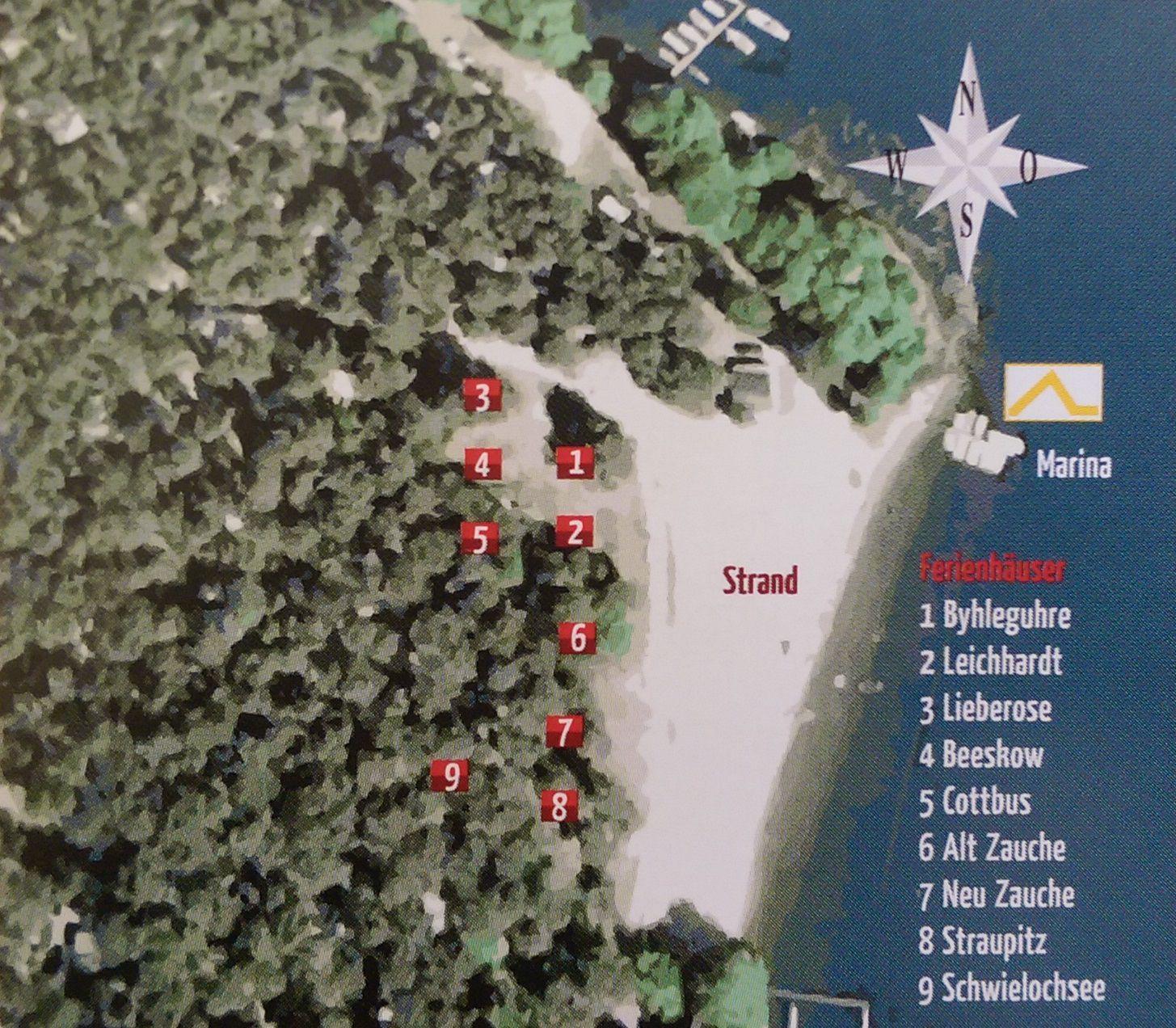 Lageplan der Ferienhäuser